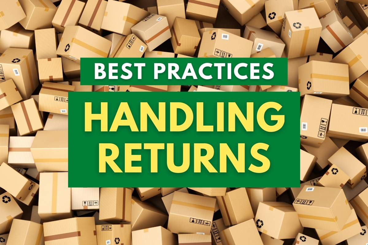 Pile of return boxes - Best Practices Handling Returns