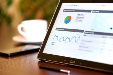 Marketing Software on a tablet