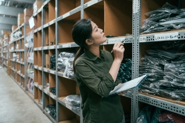 Woman doing inventory