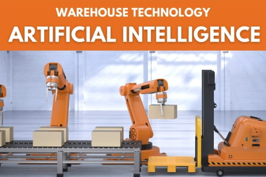 Automated robotic arms used in a warehouse - Warehouse Technology - Artificial Intelligence