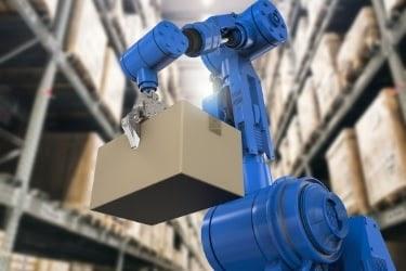 robot holding a box