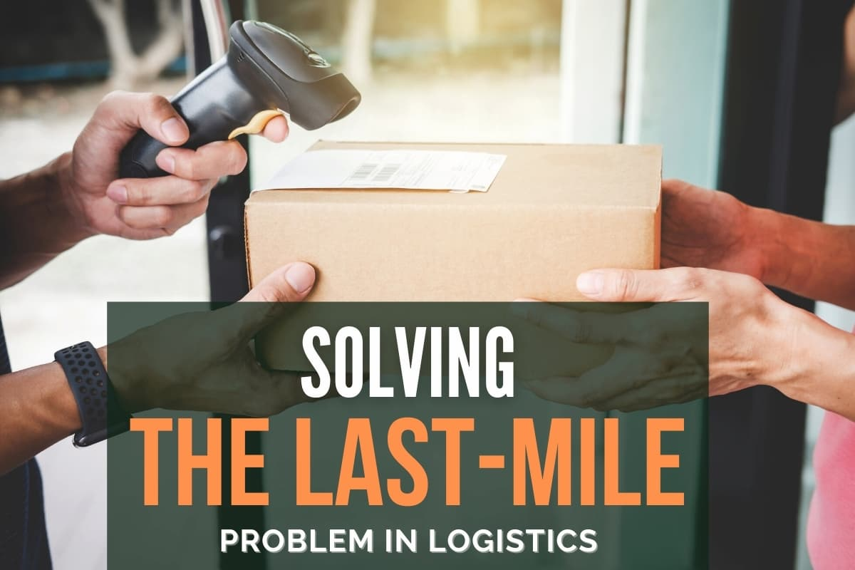 Person doing a delivery - Solving The Last-Mile Problem in Logistics