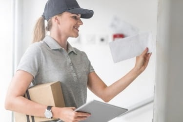 Woman doing delivery