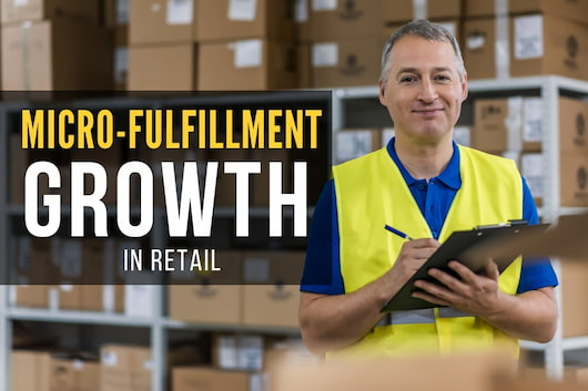 Man inside a warehouse - Micro-Fulfillment Growth in Retail