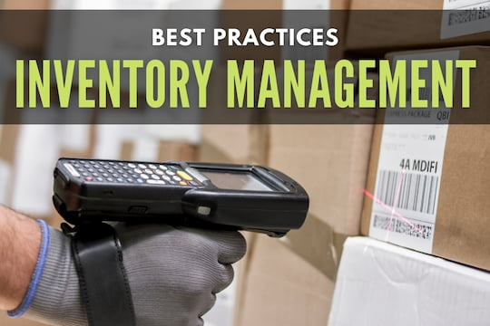 Person scanning a box - Best Practices Inventory Management