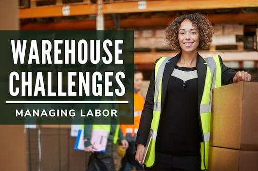 Warehouse Challenges - Managing Labor - Woman in a warehouse