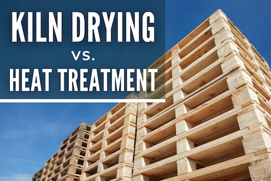 Kiln Drying vs. Heat Treatment - Stack of Wood Pallets