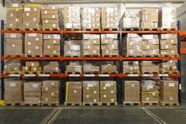 Boxes inside a Micro Warehouse