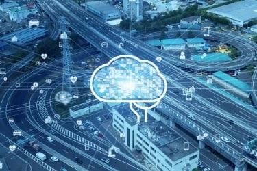 AI concept in logistics