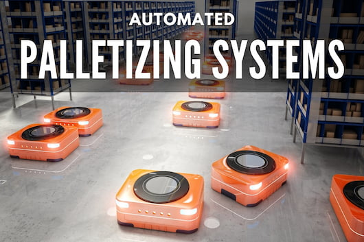 Automated Palletizing Systems - Robots in a warehouse