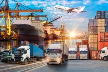 Logistics concept - Different transportation methods