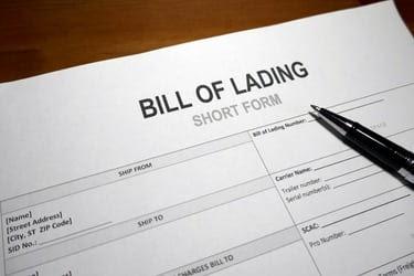 Bill of Lading Form
