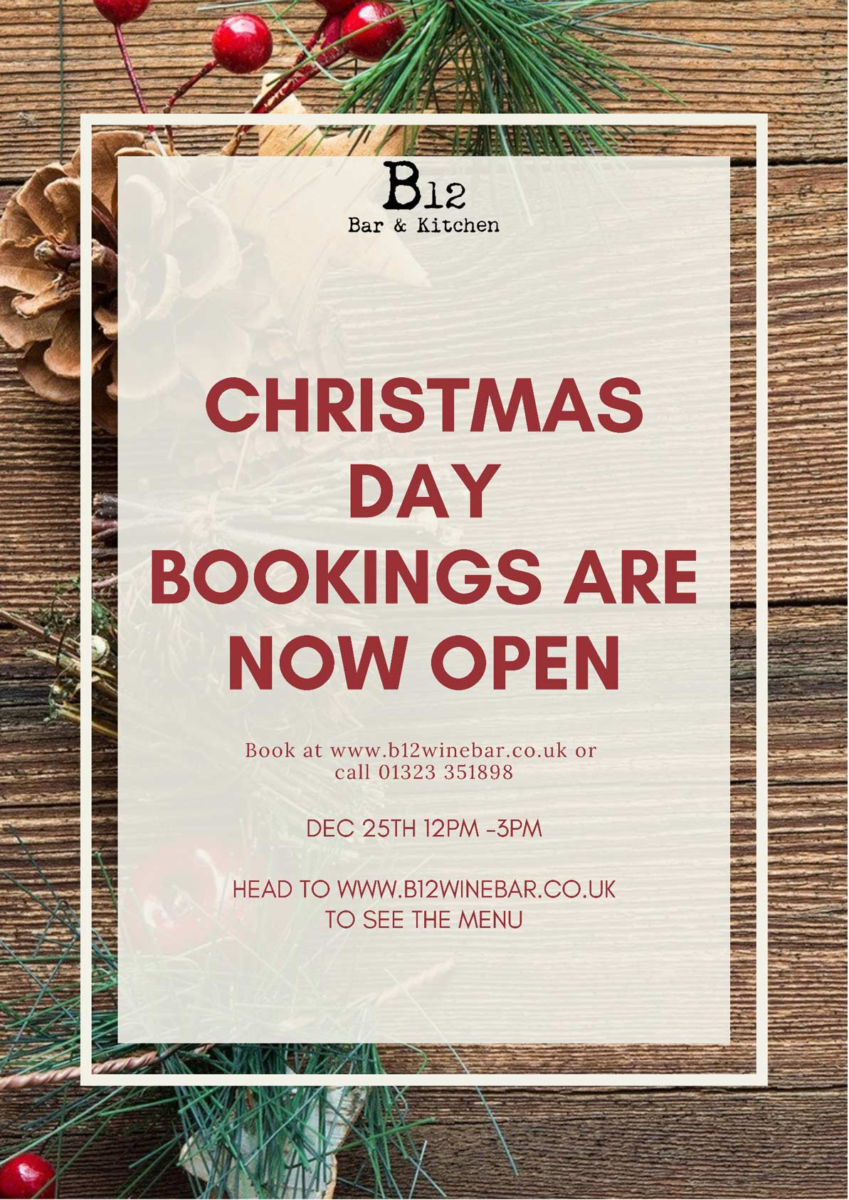 Christmas Day Bookings Poster
