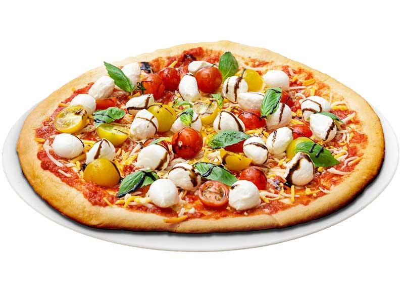 Knusprige Pizza mit buntem Belag