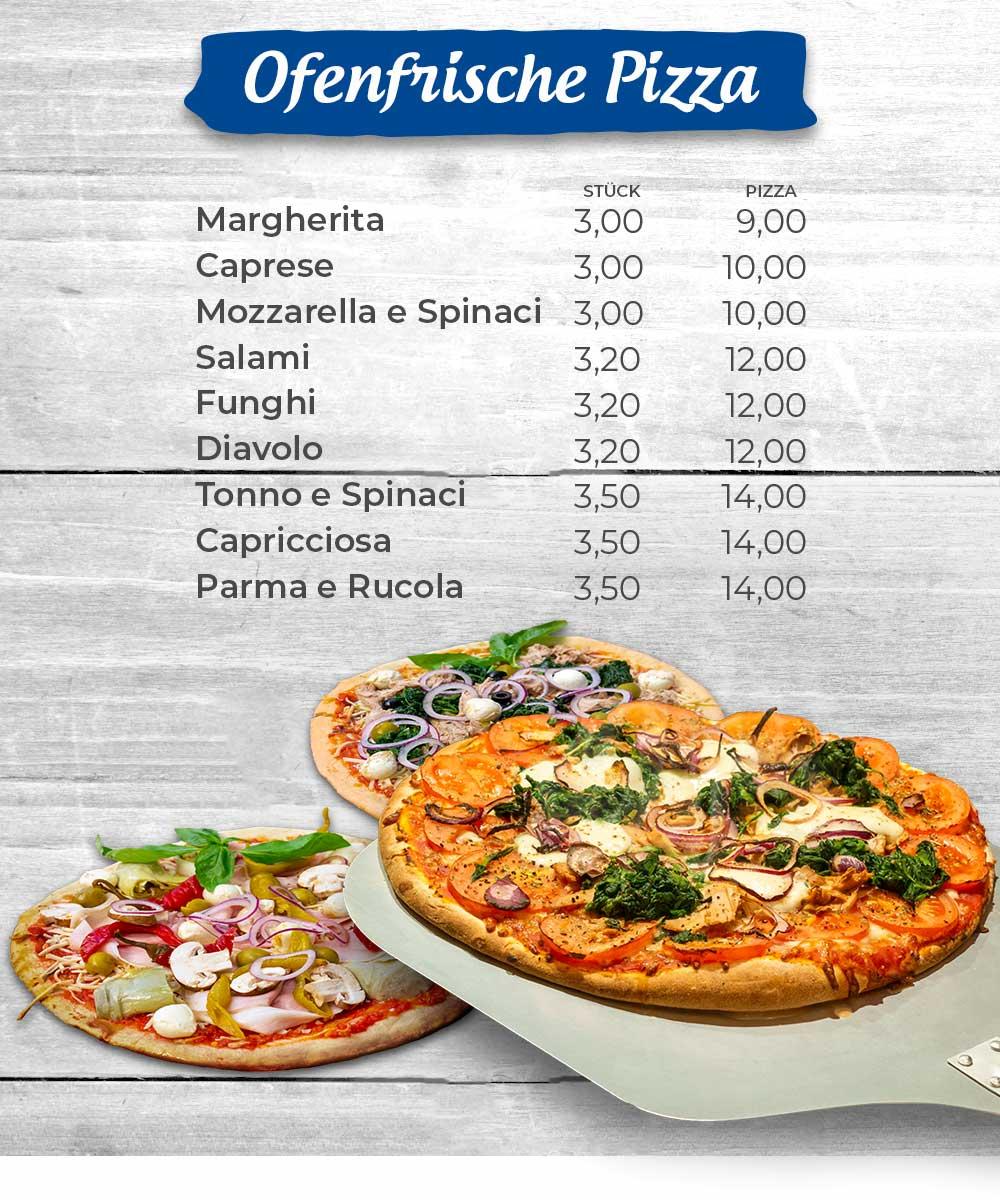knusprige ofenfrische Pizza