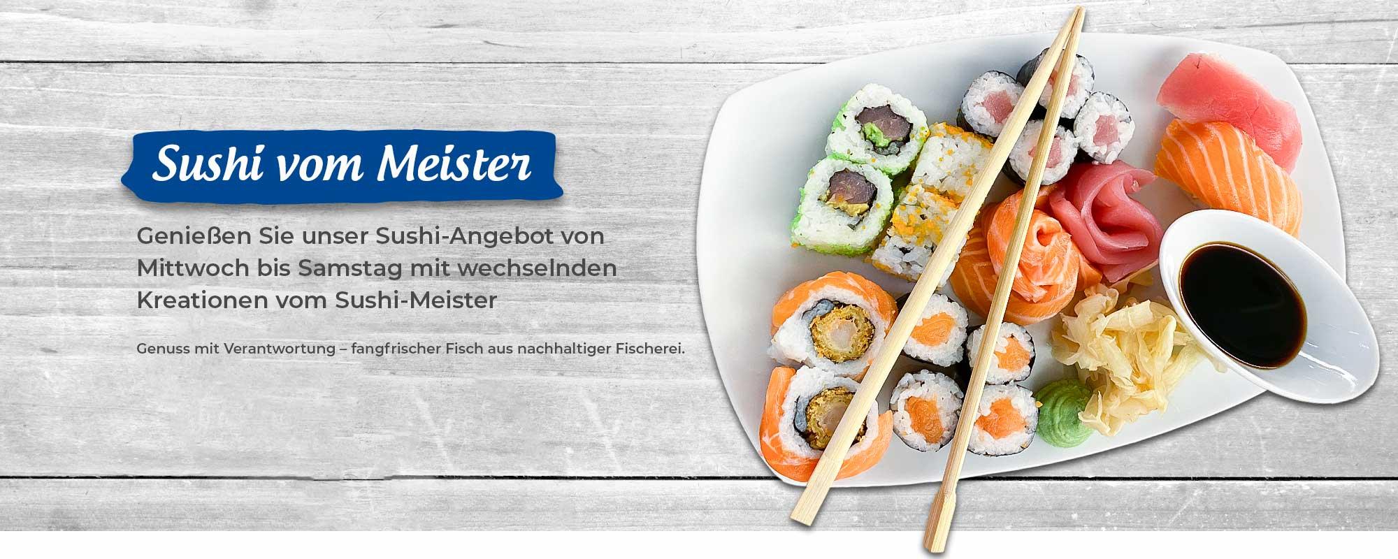 Angebot Sushi mit einer leckeren bunten Sushi Platte