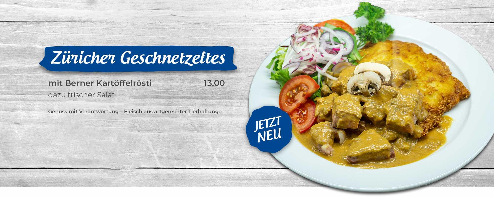 Garnelenteller mit Garnelen, Salat der Saison, Knoblauchbaguette halbiert und Knoblauchdip