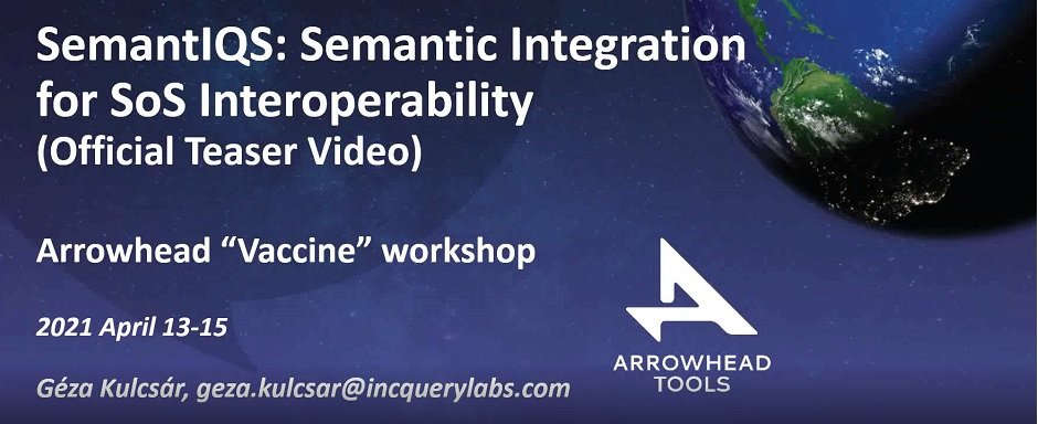 """IncQuery Labs presents IncQuery Suite at the Arrowhead Tools """"Vaccine"""" workshop"""