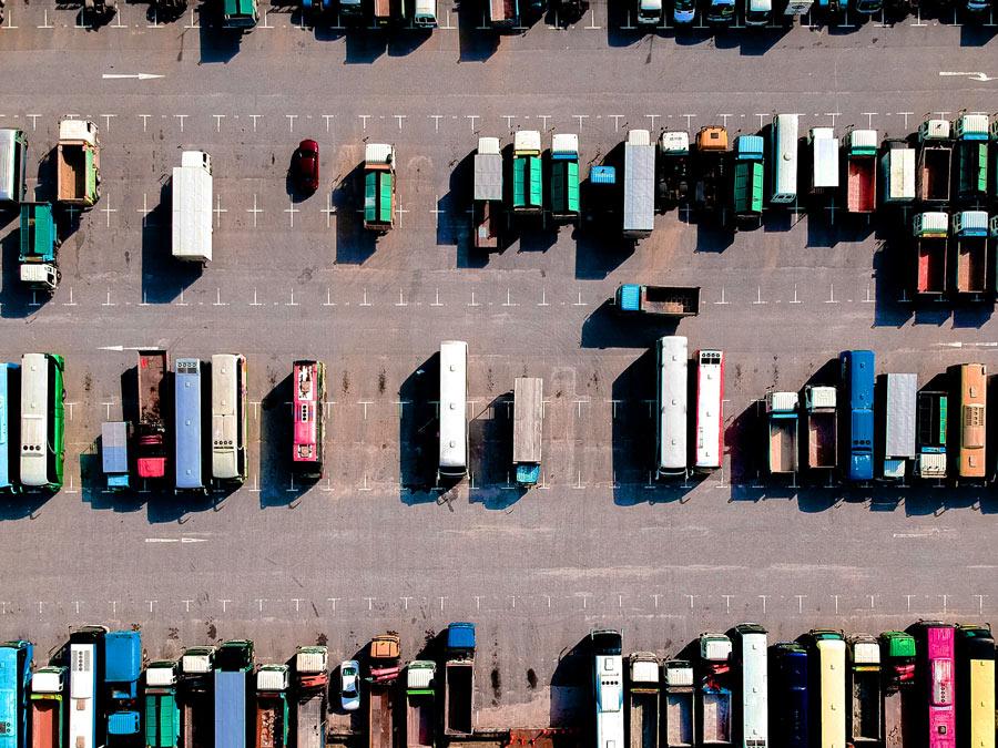 Imagen de aparcadero de camiones