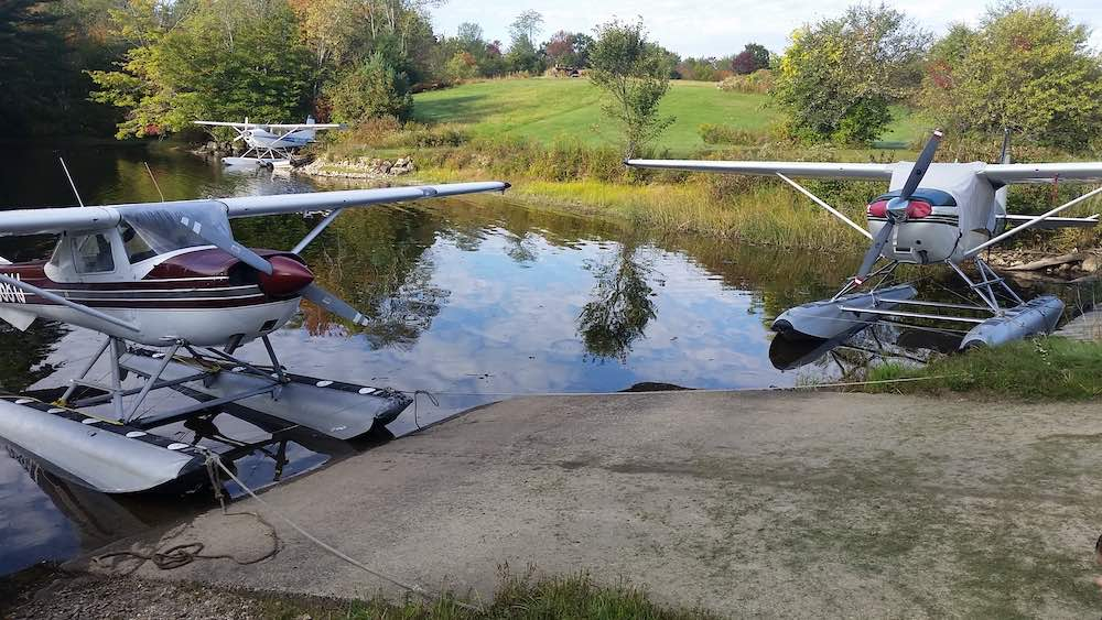 Twitchell's Airport | 3 Float Planes on the Androscoggin River