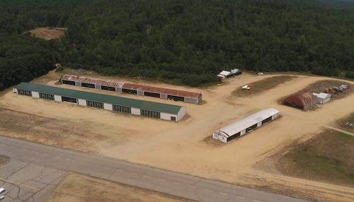 Overhead view of the hangars available at Twitchell's.