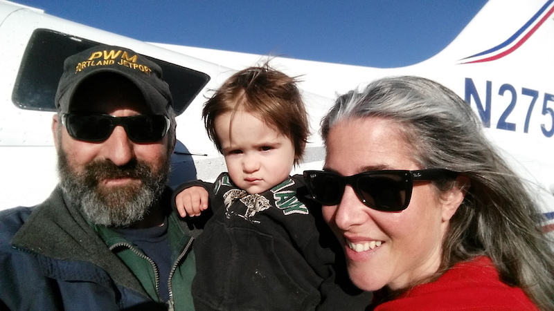 Owners Mark & Kate McGhee with young son.
