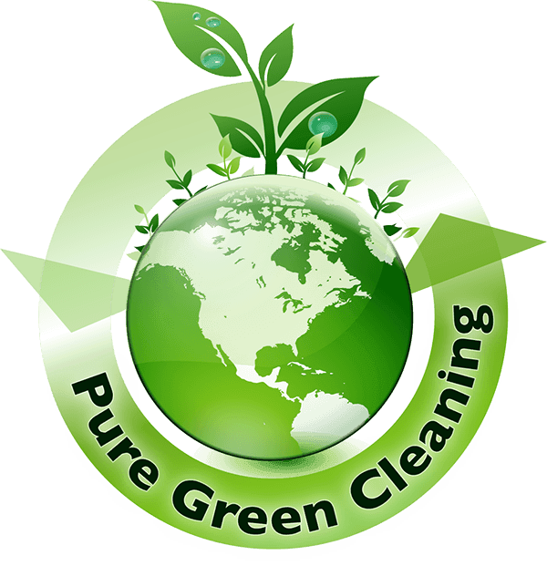 Pure green cleaning logo