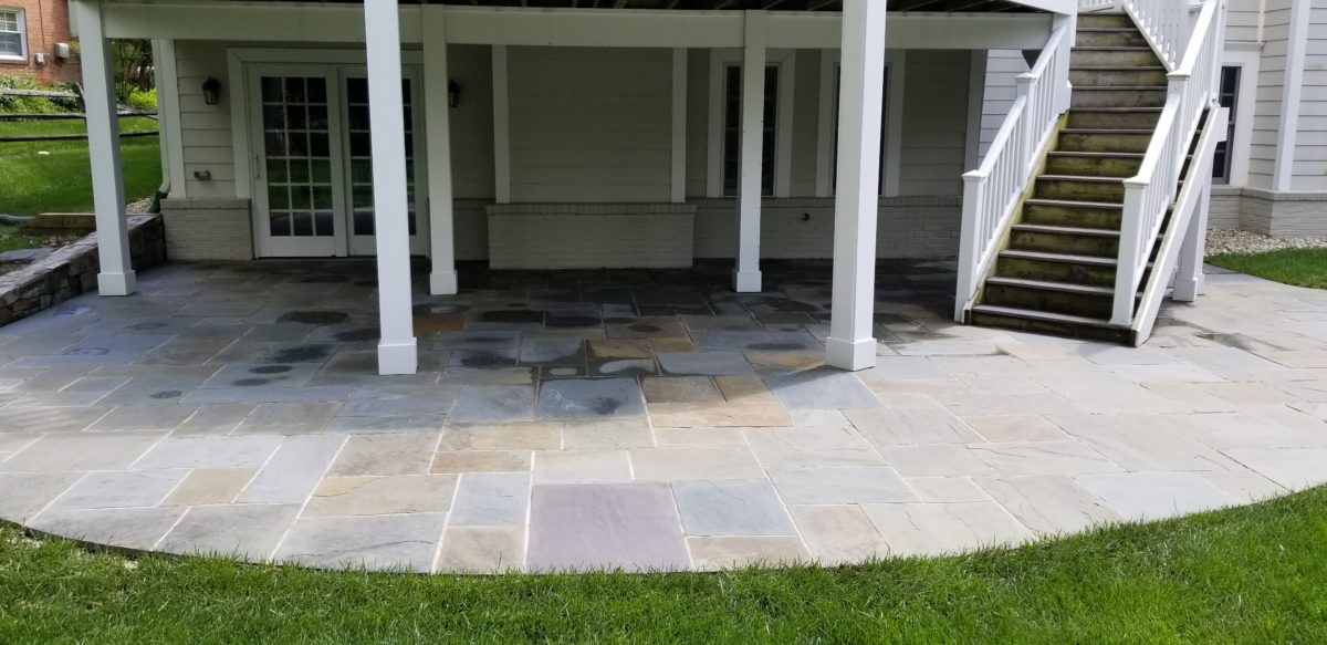 Flagstone Patio Power Washing in Rockville, MD
