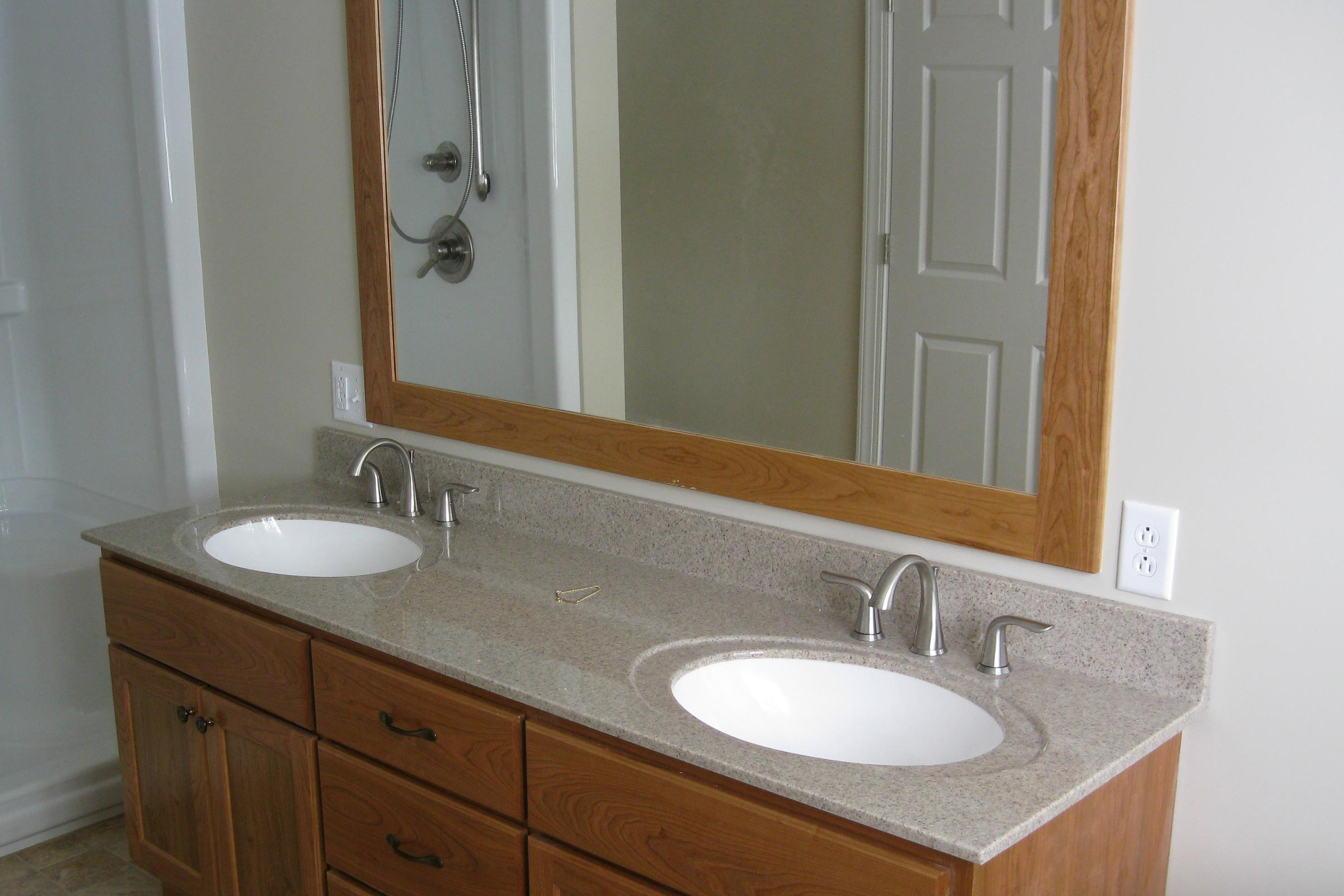 Added two new sinks to an existing bathroom remodel.