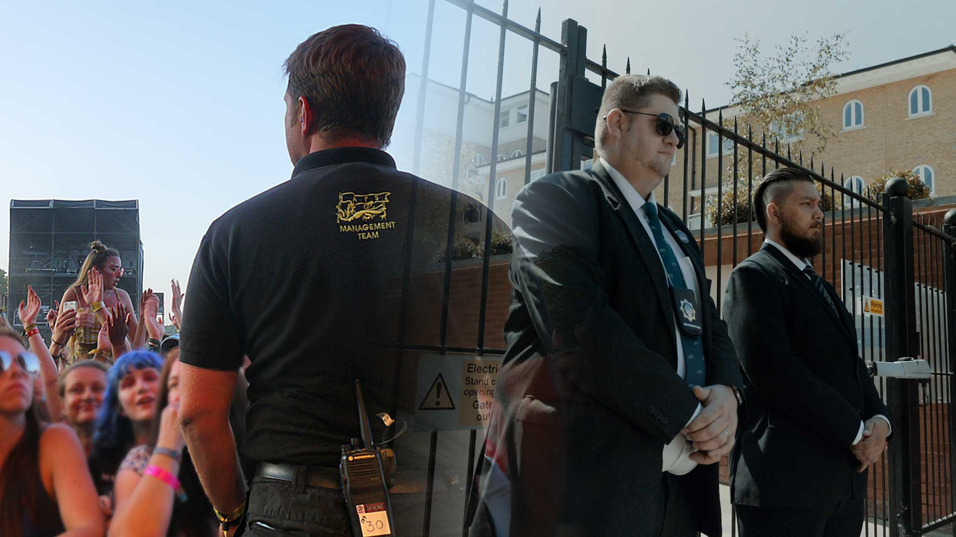 Montage of AP Security operatives