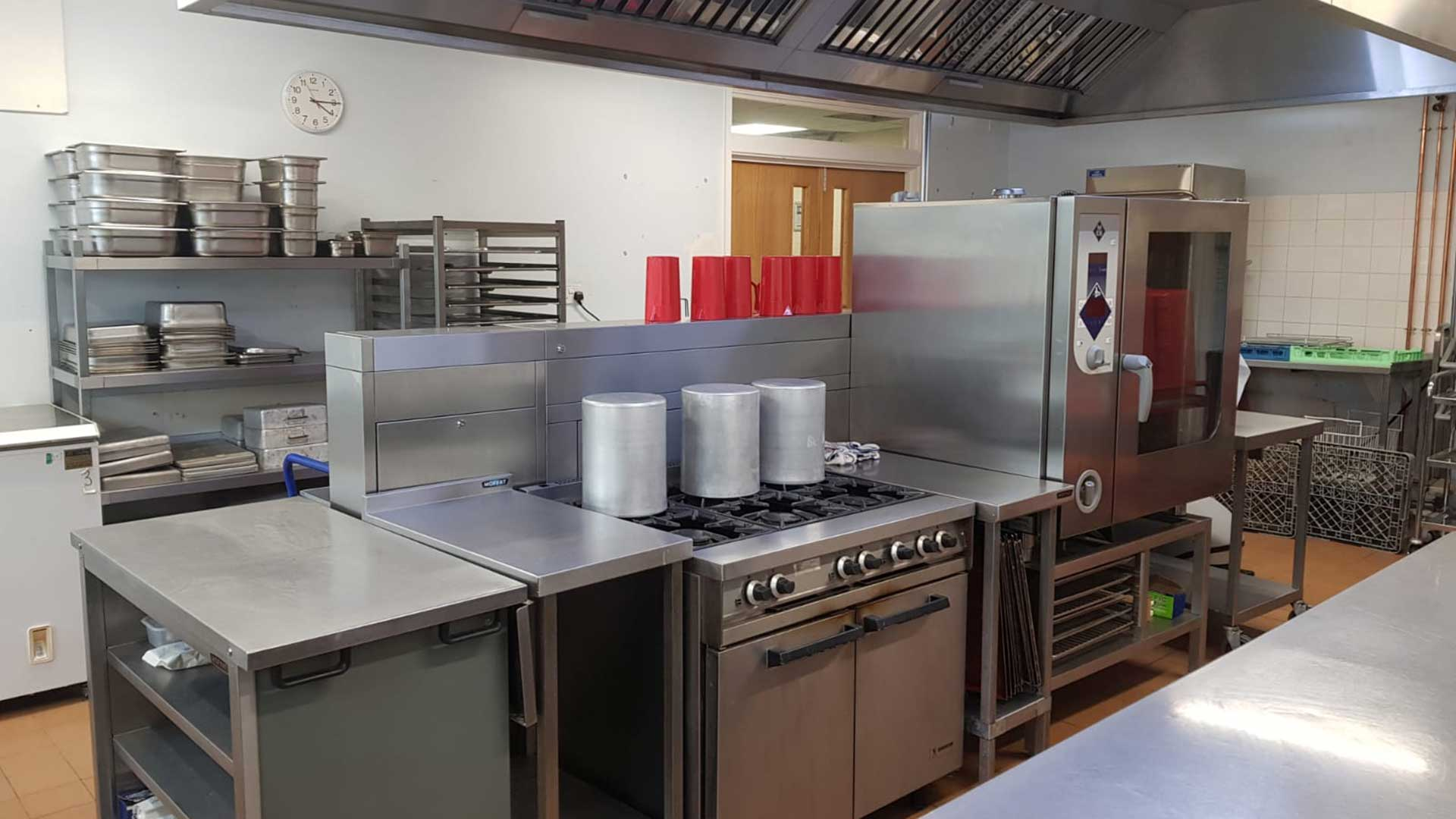 Very clean commercial kitchen