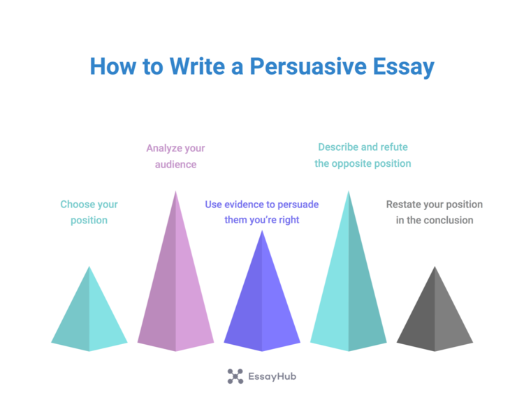 how to write a persuasive essay guide visualization