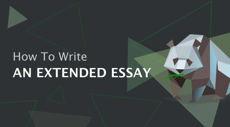 如何写一篇扩展文章