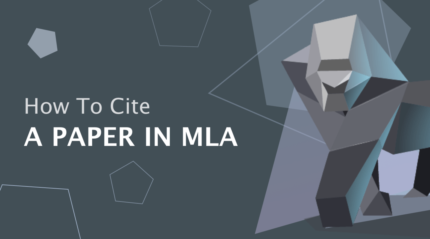 How to Cite a Paper in MLA