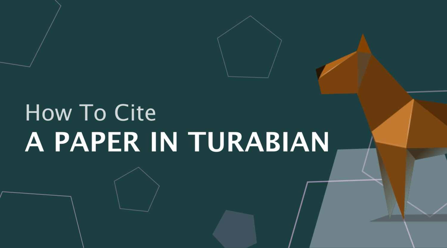 How to Cite a Paper in Chicago/Turabian Style