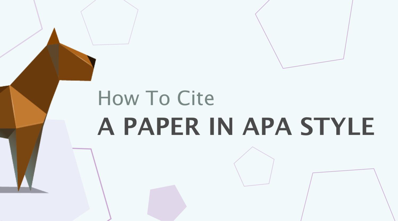 如何引用APA风格的论文