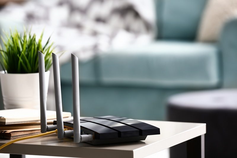 modern mesh wifi station in a smart home