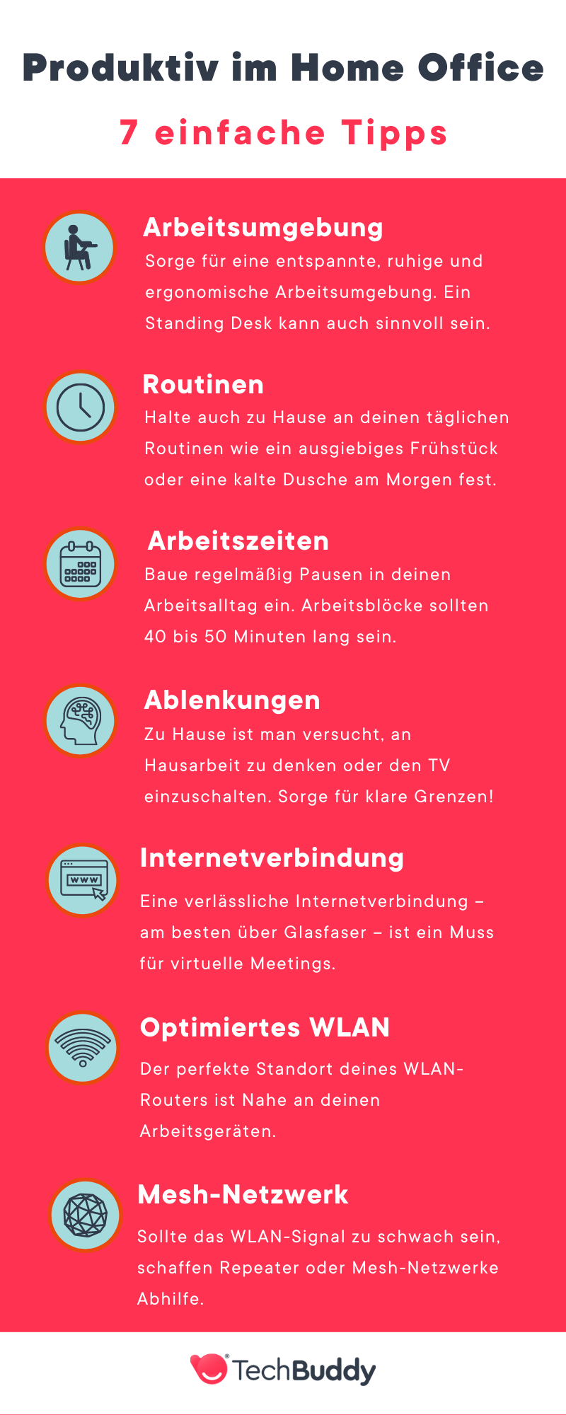 home office tipps - infografik techbuddy