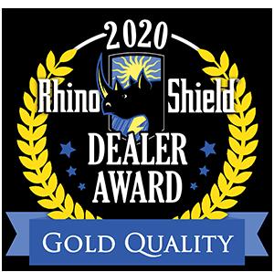 2020 Rhino Shield Dealer Award Gold Service