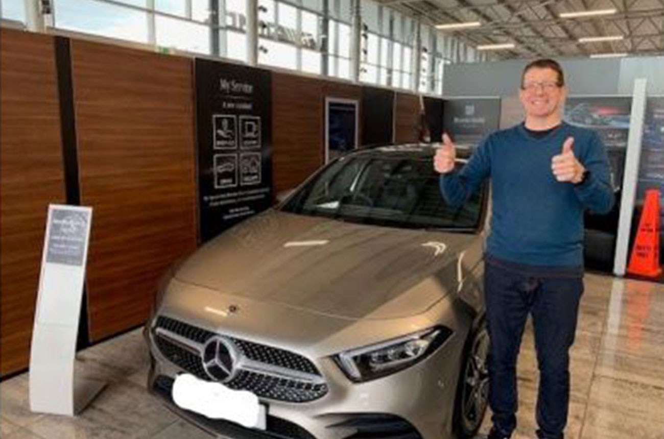 Mercedes Benz Client Thumbs Up!