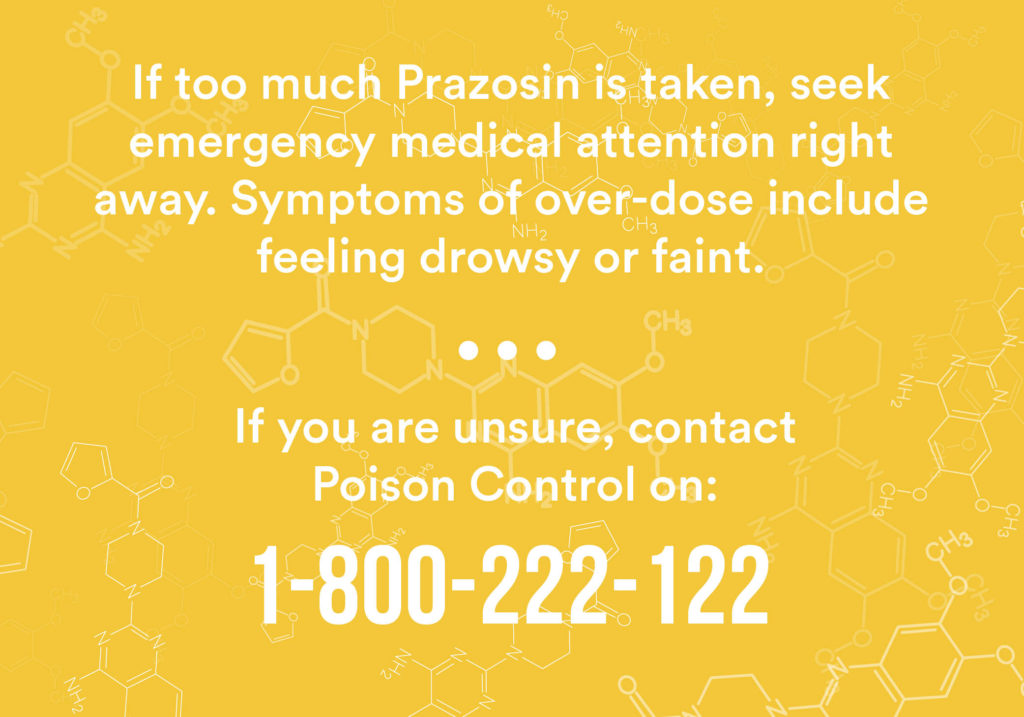Prazosin overdose