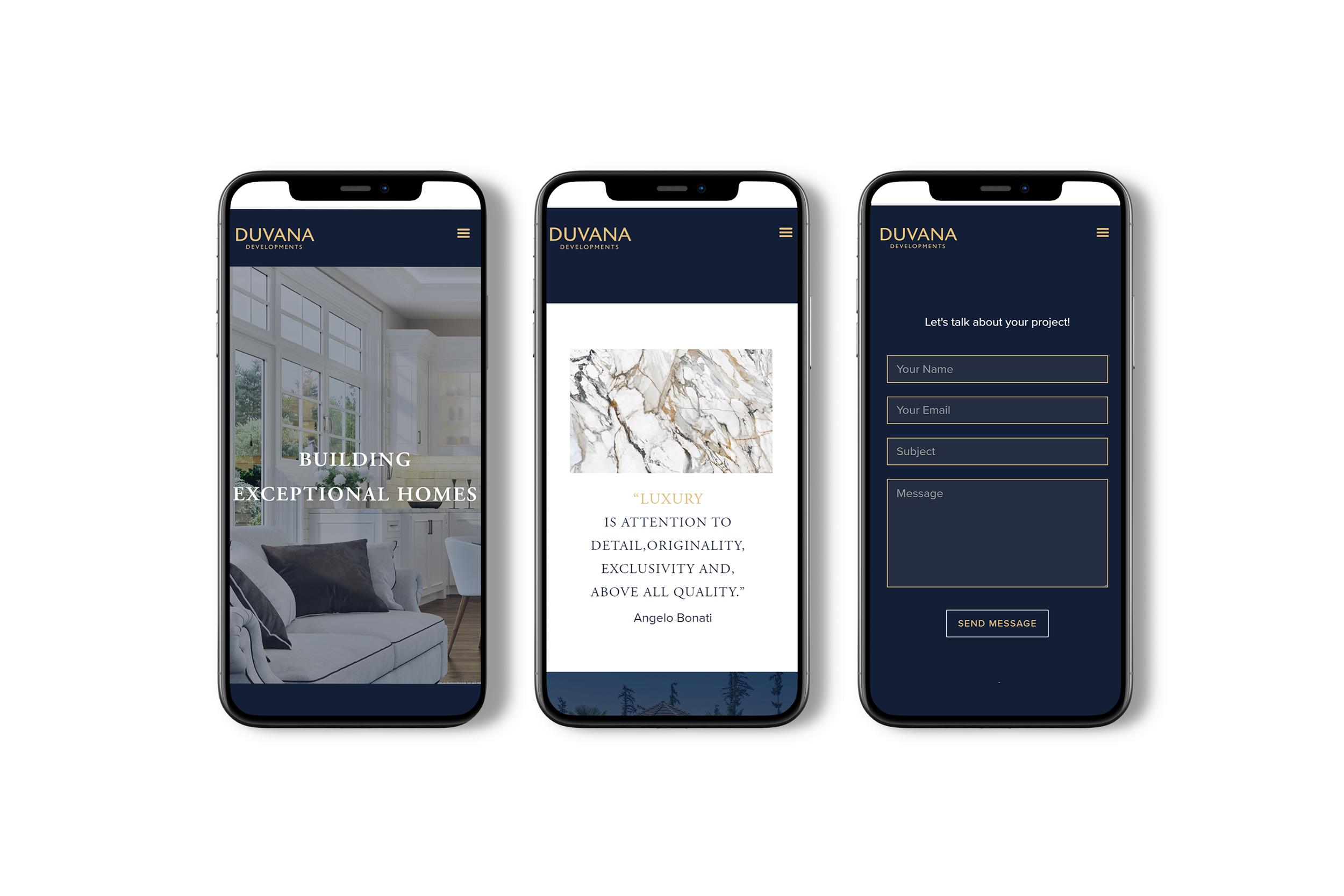 iphone mockup of a web design.