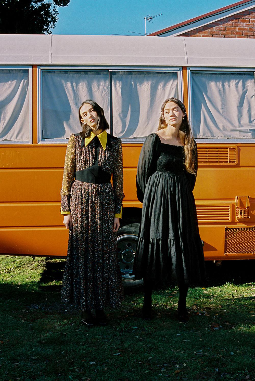 Tarsha and Gemma Orsman wear Karen Walker