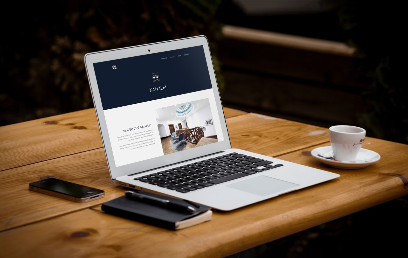 Web design for law firm Zurich
