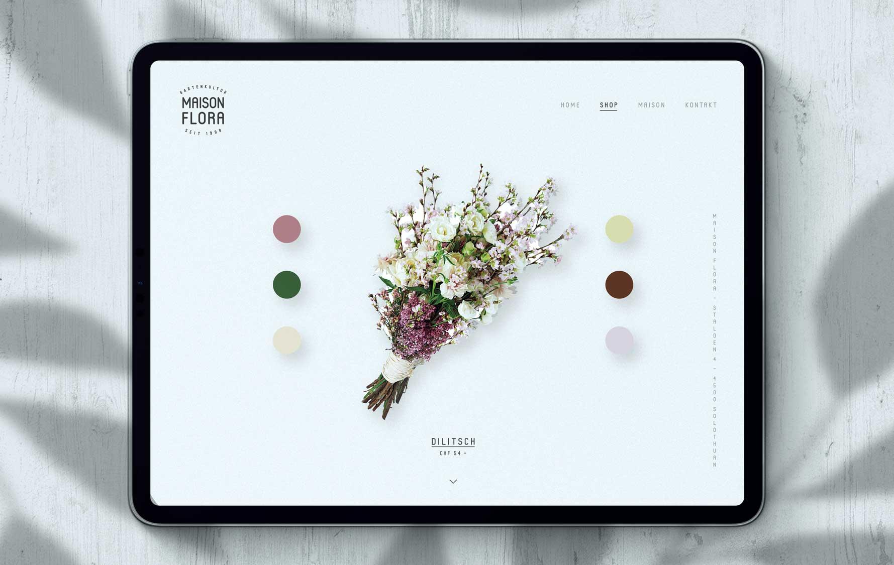 Onlineshop und Webdesign für Florist Geschäft aus Bern