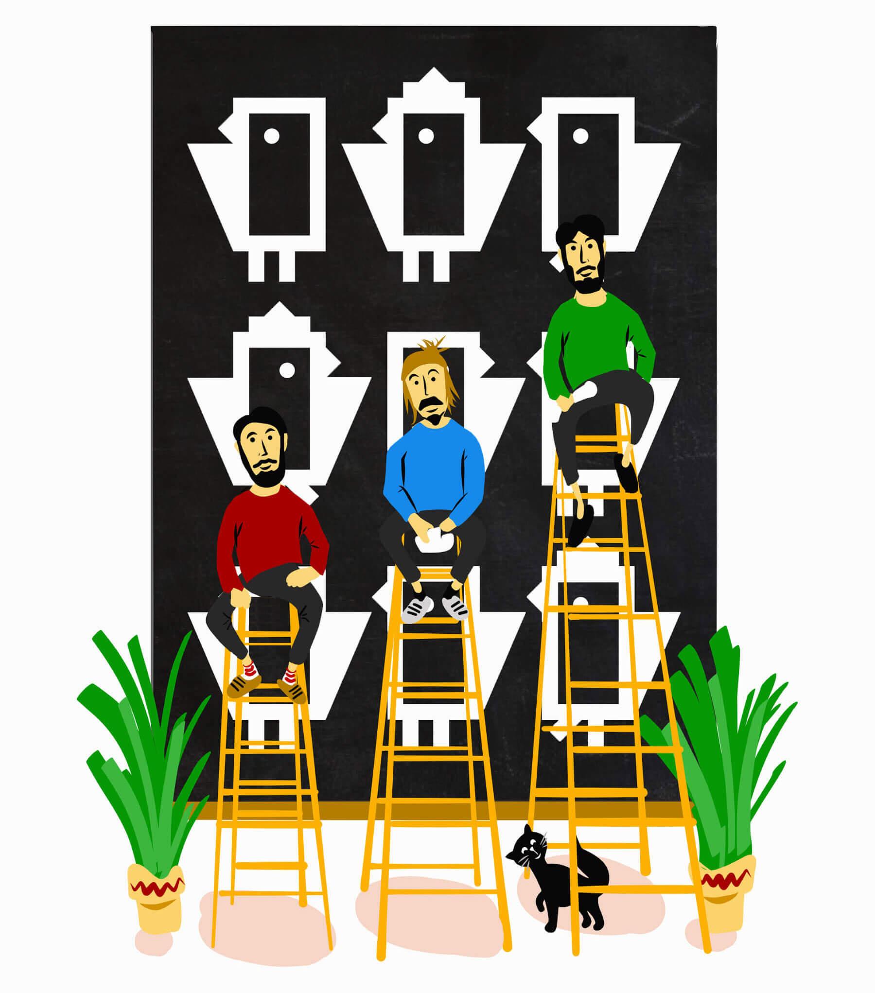 Mitglieder Portrait Illustration IT Mitarbeiter Schweiz