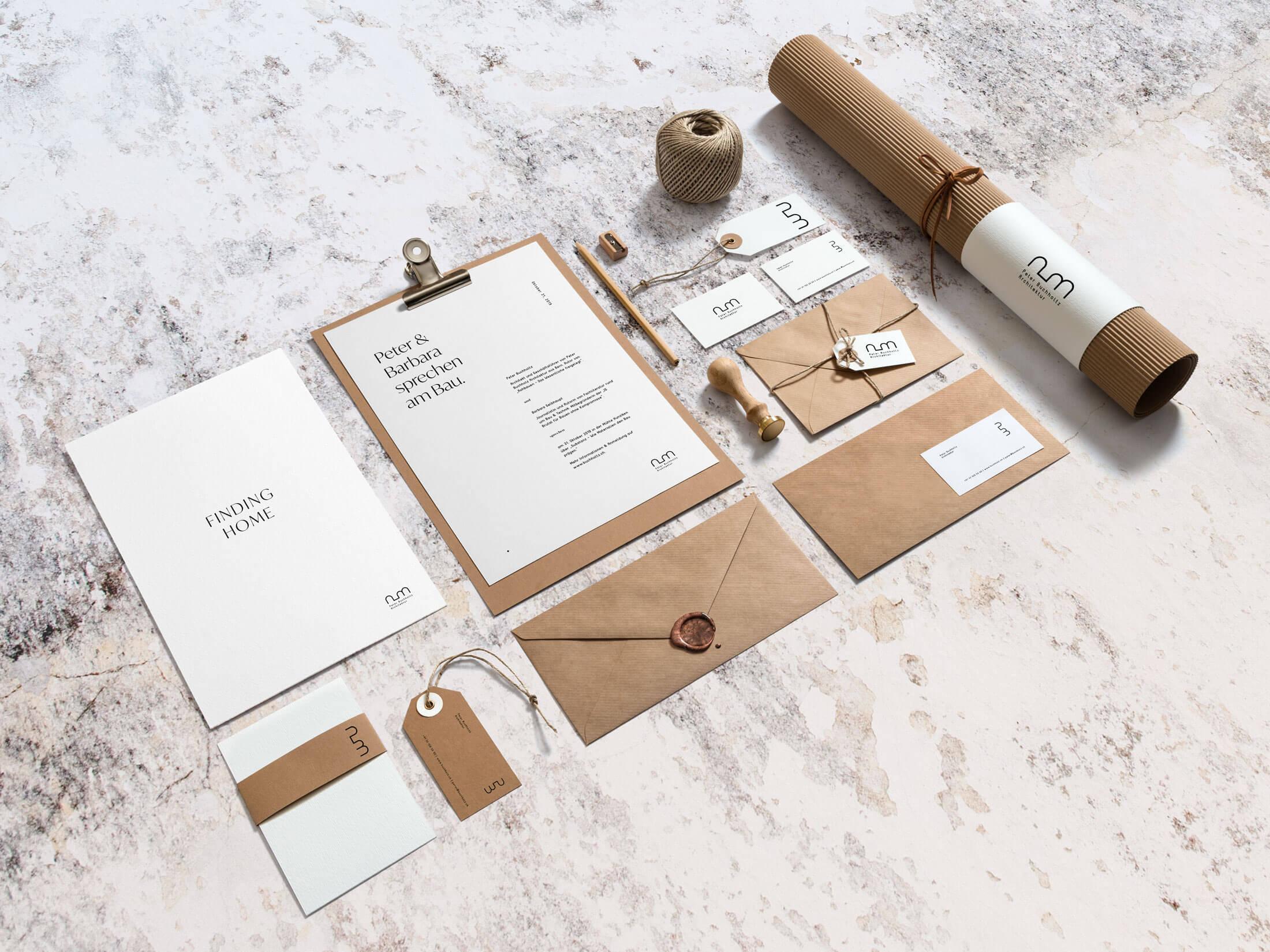 Branding und Gestaltung von Print für Schweizer Architekt in Bern