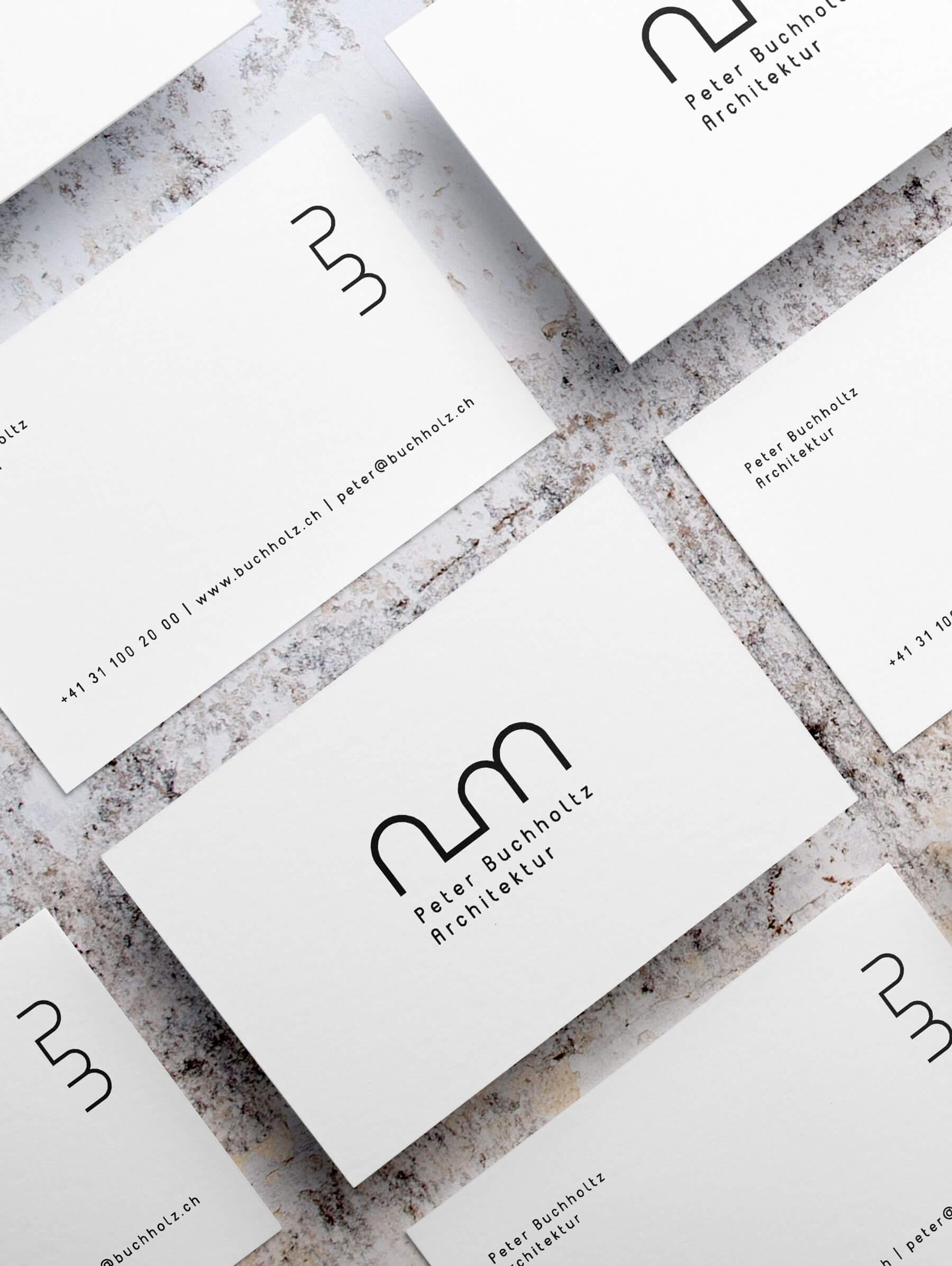 Visitenkarten Design für Schweizer Architekt in Bern