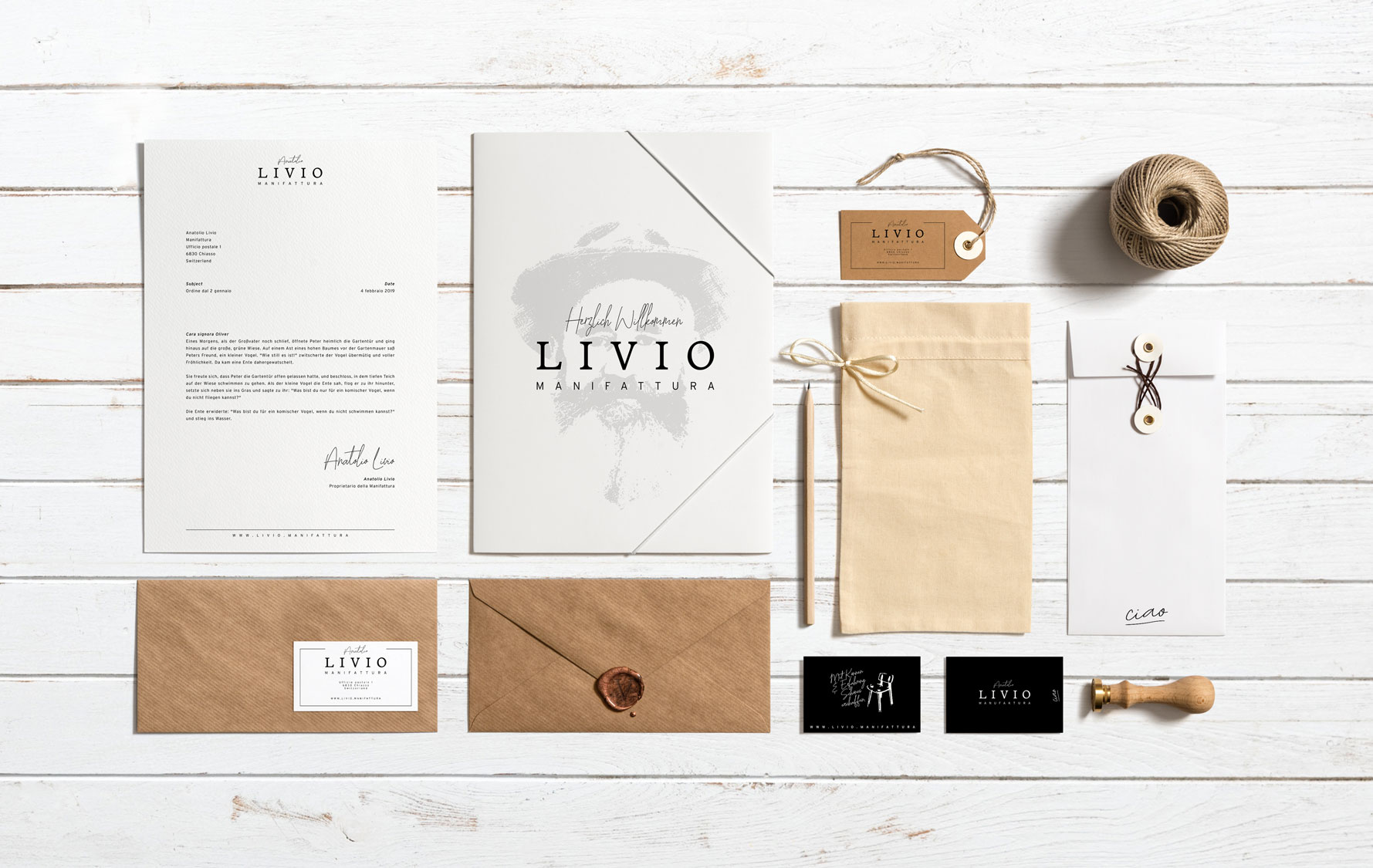 Print Design Letters, Documents and Business Cards KMU Switzerland