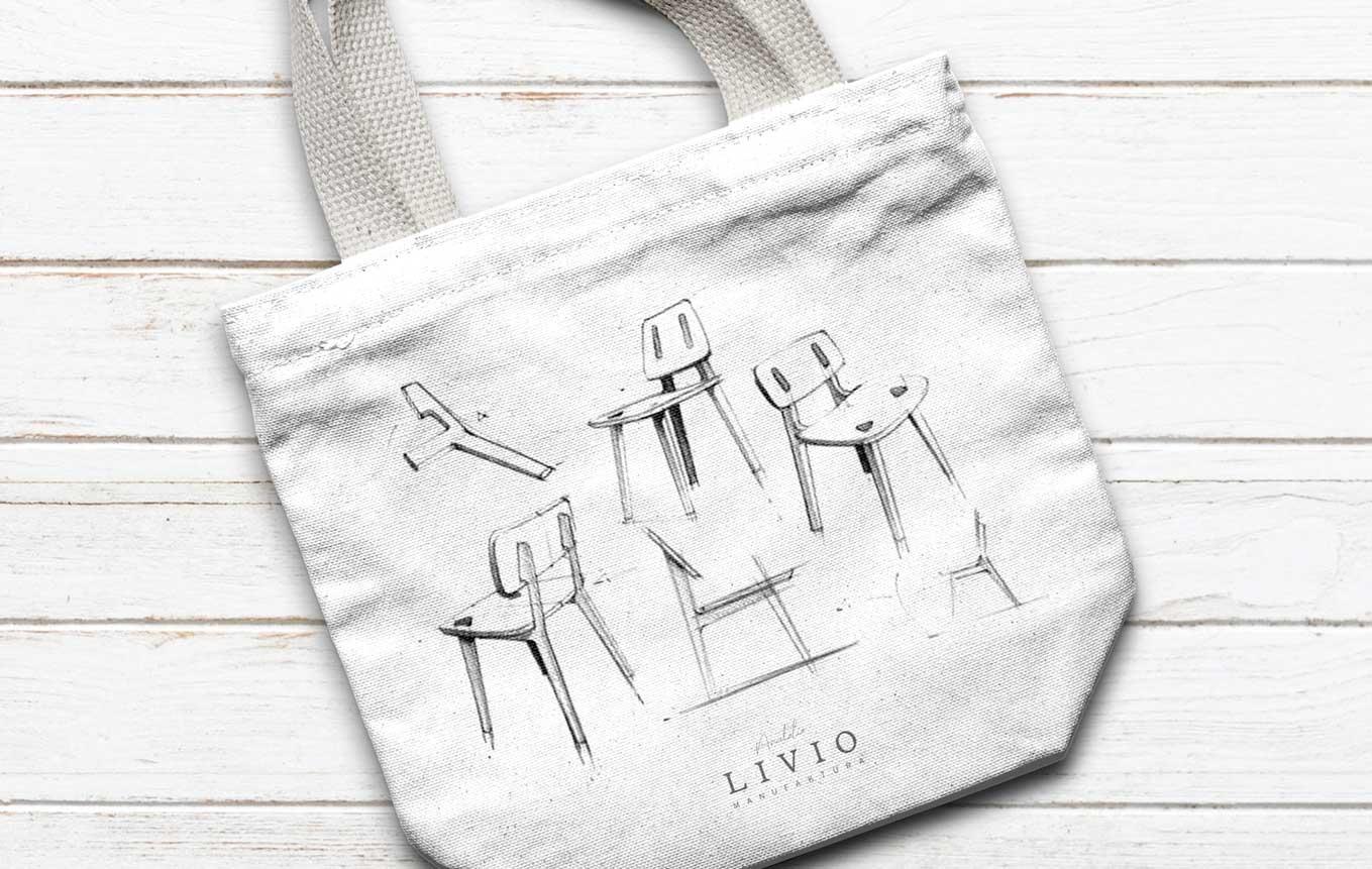 Bag design merchandise Swiss SME carpentry